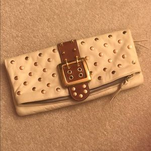 BE & D leather studded clutch